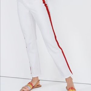 Madewell Stovepipe Jeans Tuxedo Stripe Edition